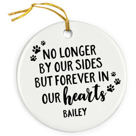 Personalized Porcelain Ornament - Forever In Our Hearts