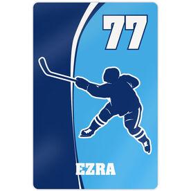 """Hockey Aluminum Room Sign (18""""x12"""") Personalized Hockey Slapshot"""