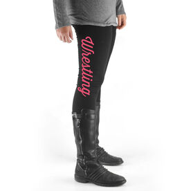 Wrestling High Print Leggings Wrestling Script