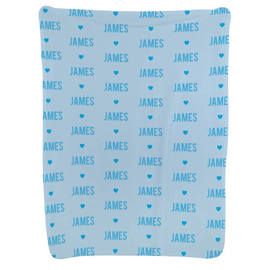 Personalized Baby Blanket - Name And Heart