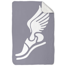 Track & Field Sherpa Fleece Blanket - Winged Foot