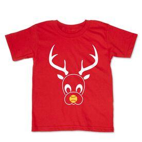 Softball Toddler Short Sleeve Tee - Reindeer