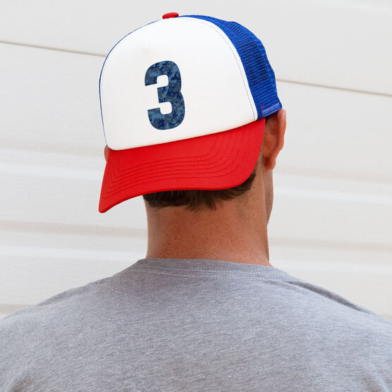Trucker Hat - Navy Custom Number