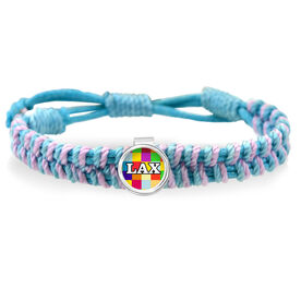 Lax Pattern Adjustable Woven SportSNAPS Bracelet