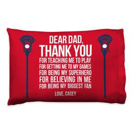Guys Lacrosse Pillowcase - Dear Dad