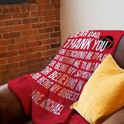 Football Premium Blanket - Dear Dad