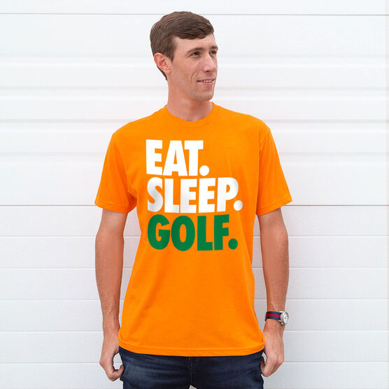 Golf T-Shirt Short Sleeve Eat. Sleep. Golf.