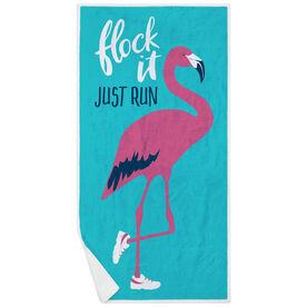 Running Premium Beach Towel - Flock It Just Run
