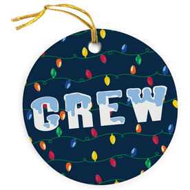 Crew Porcelain Ornament Christmas Lights