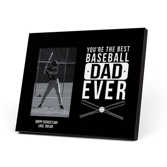 Baseball Photo Frame - Best Baseball Dad Ever