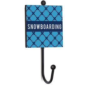 Snowboarding Medal Hook - Snowboarding Pattern
