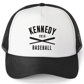 Baseball Trucker Hat - Team Name With Curved Text