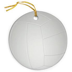 Volleyball Porcelain Ornament Ball