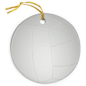 Volleyball Porcelain Ornament Ball