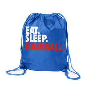 Baseball Sport Pack Cinch Sack Eat. Sleep. Baseball.