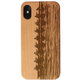 Crew Engraved Wood IPhone® Case - Crew Silhouette