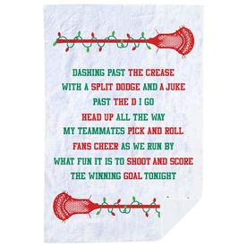 Guys Lacrosse Premium Blanket - Jingle All The Way