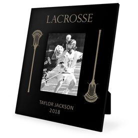 Guys Lacrosse Engraved Picture Frame - Lacrosse Sticks