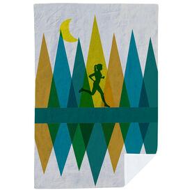 Running Premium Blanket - Geometric Mountains Female
