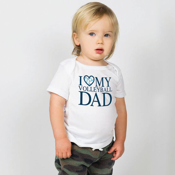 Volleyball Baby T-Shirt - I Love My Volleyball Dad