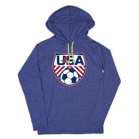 Women's Soccer Lightweight Hoodie - Soccer USA