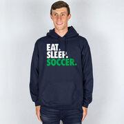 Soccer Hooded Sweatshirt - Eat. Sleep. Soccer.
