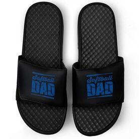 Softball Black Slide Sandals - Softball Dad
