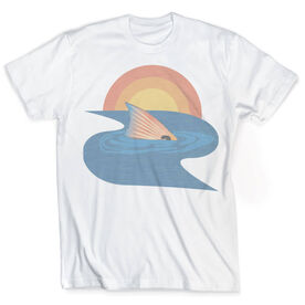 Vintage Fly Fishing T-Shirt - Redfish Finning