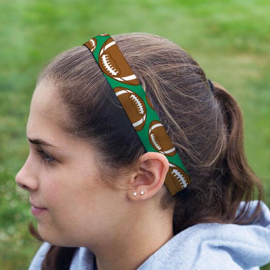 Football Julibands No-Slip Headbands - Tossed Ball Pattern