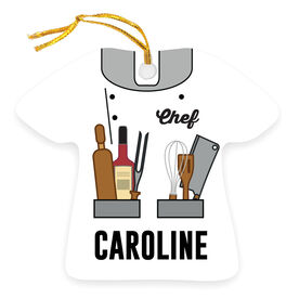 Personalized Ornament - Chef Outfit