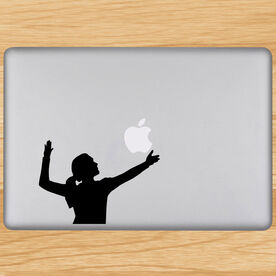 Volleyball Removable Laptop Decal Volleyball Serve Silhouette