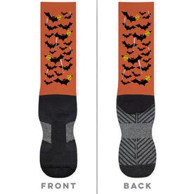 Softball Printed Mid-Calf Socks - Bats with Balls