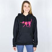 Field Hockey Hooded Sweatshirt - Fetch the Field Hockey Dog