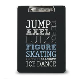 Figure Skating Custom Clipboard Figure Skating Typographic