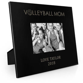 Volleyball Engraved Picture Frame - Volleyball Mom