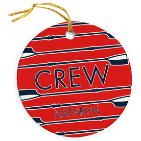 Crew Porcelain Ornament Oars in a Row
