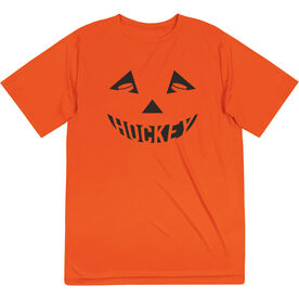 Hockey Short Sleeve Performance Tee - Hockey Pumpkin Face