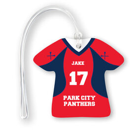 Guys Lacrosse Jersey Bag/Luggage Tag - Personalized Jersey