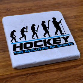 Hockey Evolution - Stone Coaster
