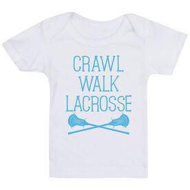 Guys Lacrosse Baby T-Shirt - Crawl Walk Lacrosse