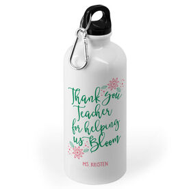 Personalized Teacher 20 oz. Stainless Steel Water Bottle - Bloom