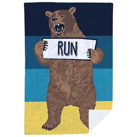 Running Premium Blanket - Trail Bear
