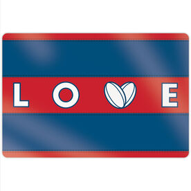"""Rugby 18"""" X 12"""" Aluminum Room Sign - Love Ball Stripes"""