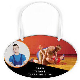 Wrestling Oval Sign - Class Of Team Photo With Wrestler