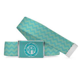 Volleyball Lifestyle Belt Chevron Monogram Volleyball