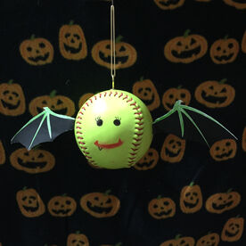 Softball DIY Halloween Bat Wings