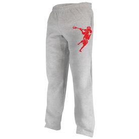 Guys Lacrosse Fleece Sweatpants Lacrosse Jump Shot Silhouette