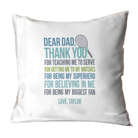 Tennis Pillow Dear Dad