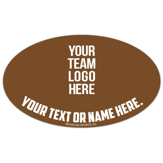 Field Hockey Oval Car Magnet Your Logo