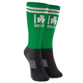 Wrestling Printed Mid-Calf Socks - I Shamrock Wrestling
